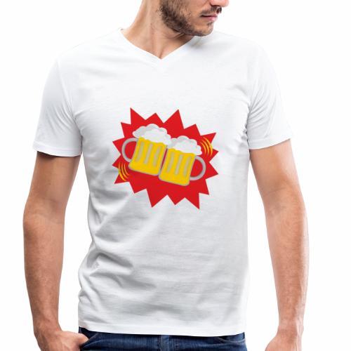 Biergläser - Männer Bio-T-Shirt mit V-Ausschnitt von Stanley & Stella