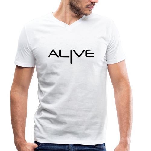 Alive - Camiseta ecológica hombre con cuello de pico de Stanley & Stella