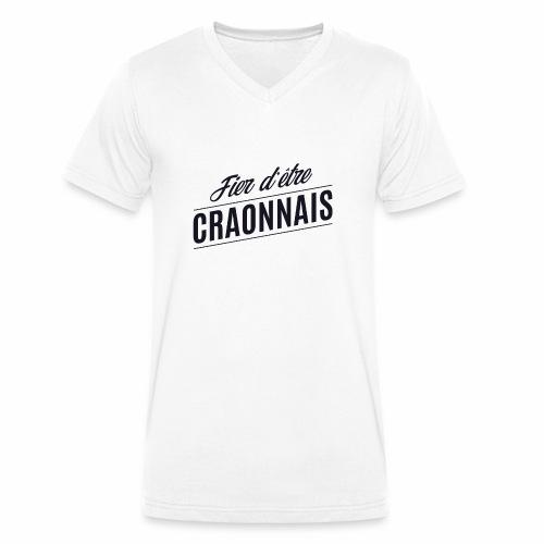 Fier d'être Craonnais - Craon - T-shirt bio col V Stanley & Stella Homme