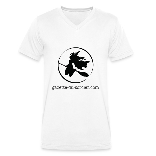 T-shirt logo Gazette - T-shirt bio col V Stanley & Stella Homme