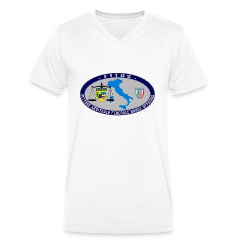 Logo SAFRO - T-shirt ecologica da uomo con scollo a V di Stanley & Stella