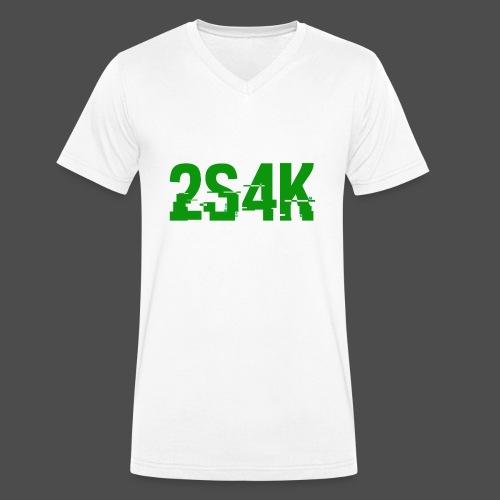 LOGO Grønn Hacked - Økologisk T-skjorte med V-hals for menn fra Stanley & Stella