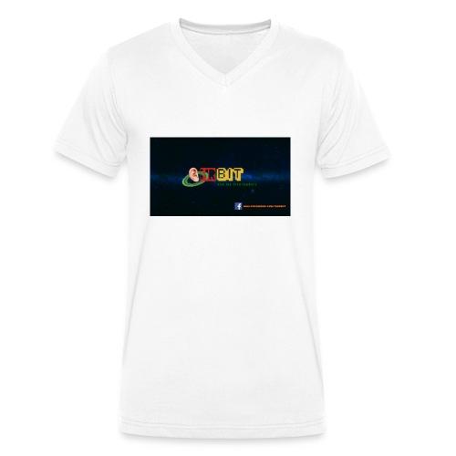 OhrBit Logo - Männer Bio-T-Shirt mit V-Ausschnitt von Stanley & Stella