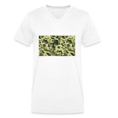 camouflage slippers - Mannen bio T-shirt met V-hals van Stanley & Stella