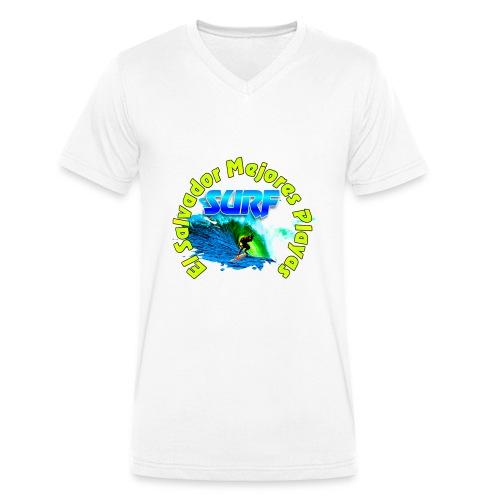 El Salvador surf - Camiseta ecológica hombre con cuello de pico de Stanley & Stella