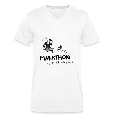 marathon-png - Ekologiczna koszulka męska z dekoltem w serek Stanley & Stella