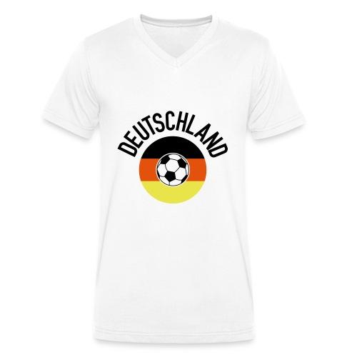 Deutschland01WM2018 - Männer Bio-T-Shirt mit V-Ausschnitt von Stanley & Stella