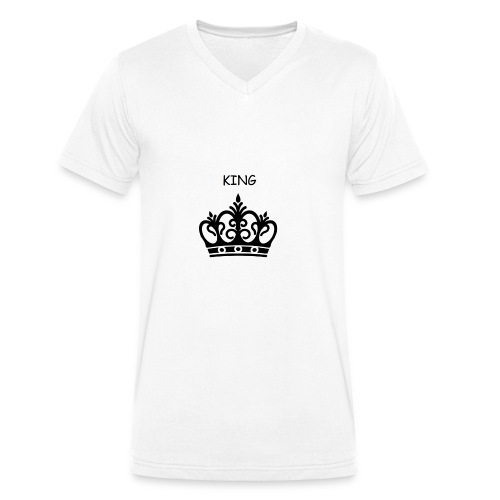 KING CROWN - T-shirt bio col V Stanley & Stella Homme