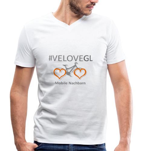 Mobile Nachbarn - Männer Bio-T-Shirt mit V-Ausschnitt von Stanley & Stella
