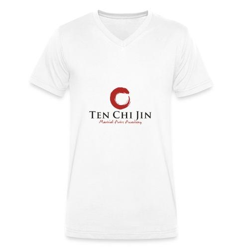 Ten Chi Jin Martial Arts Academy - Økologisk Stanley & Stella T-shirt med V-udskæring til herrer