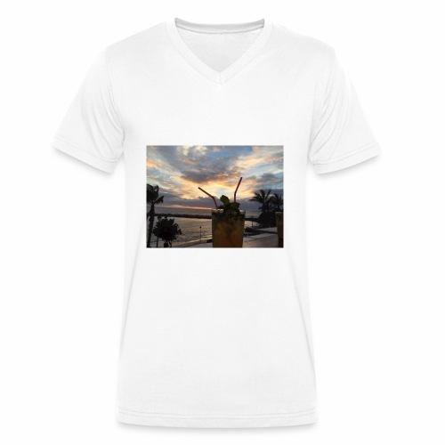 Tenerife - Männer Bio-T-Shirt mit V-Ausschnitt von Stanley & Stella