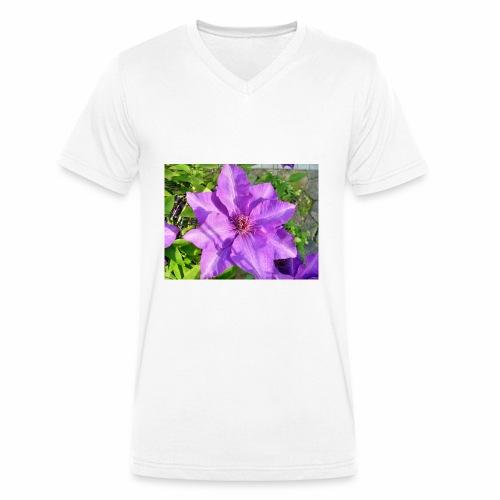 Die klematis - Männer Bio-T-Shirt mit V-Ausschnitt von Stanley & Stella