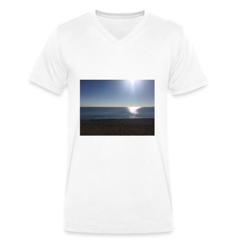 Sonne,Meer,Strand,Freiheit,Geschenk,Geschenkidee - Männer Bio-T-Shirt mit V-Ausschnitt von Stanley & Stella
