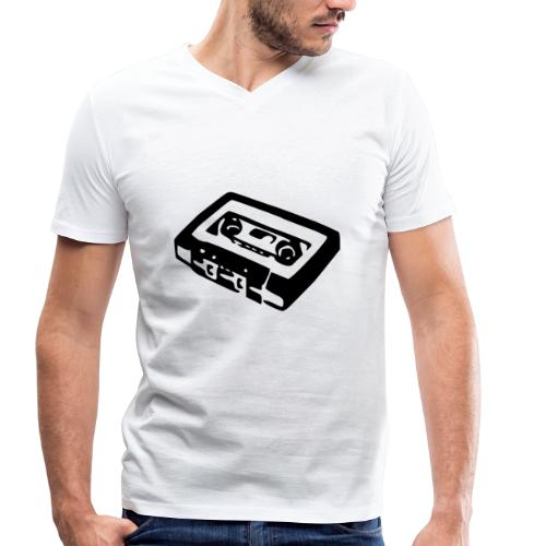 Retro-Kassette - Männer Bio-T-Shirt mit V-Ausschnitt von Stanley & Stella