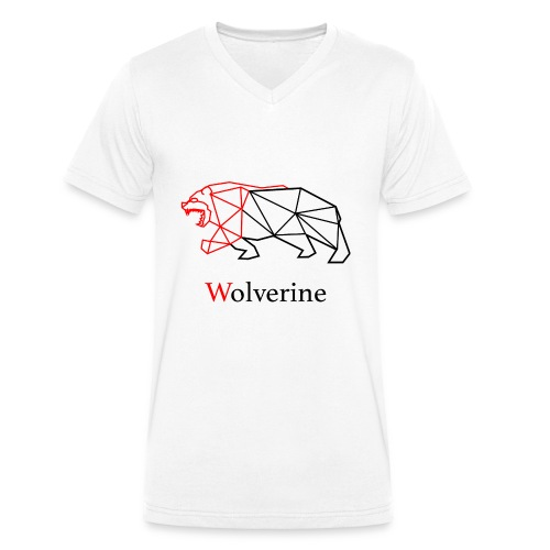 wolverine amine - Men's Organic V-Neck T-Shirt by Stanley & Stella