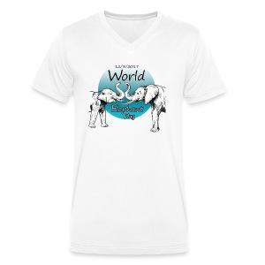 World Elephant Day 2017 - Männer Bio-T-Shirt mit V-Ausschnitt von Stanley & Stella