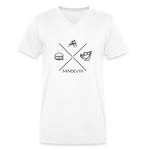 fischbroetchen trifft falafel - Männer Bio-T-Shirt mit V-Ausschnitt von Stanley & Stella