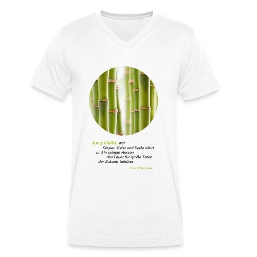 Steinhauser Das Geheimnis der Junggebliebenen - Männer Bio-T-Shirt mit V-Ausschnitt von Stanley & Stella