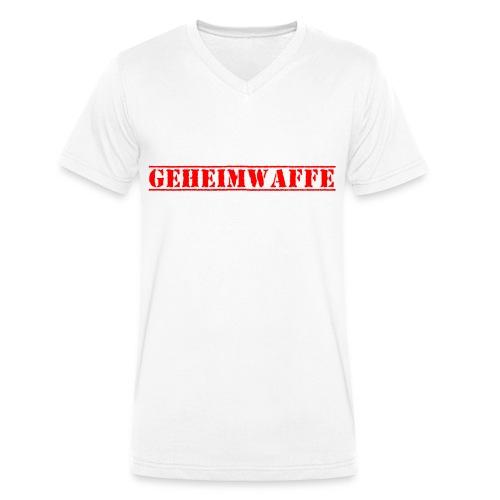 Geheimwaffe rot - Männer Bio-T-Shirt mit V-Ausschnitt von Stanley & Stella