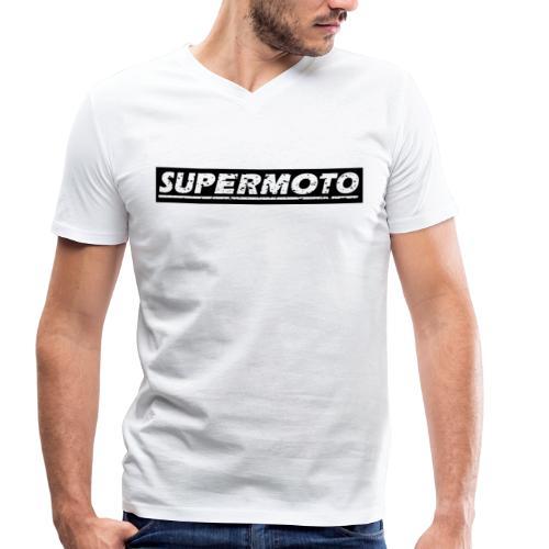Supermoto - Männer Bio-T-Shirt mit V-Ausschnitt von Stanley & Stella