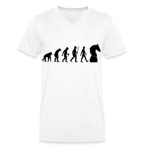 schach | Schachbrett | Schachmatt | Evolution - Männer Bio-T-Shirt mit V-Ausschnitt von Stanley & Stella