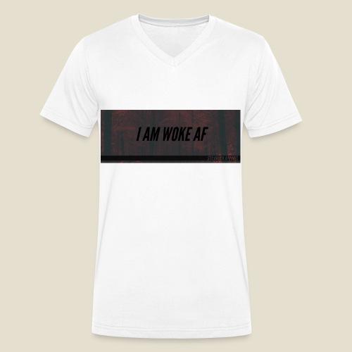 WOKE AF - Männer Bio-T-Shirt mit V-Ausschnitt von Stanley & Stella