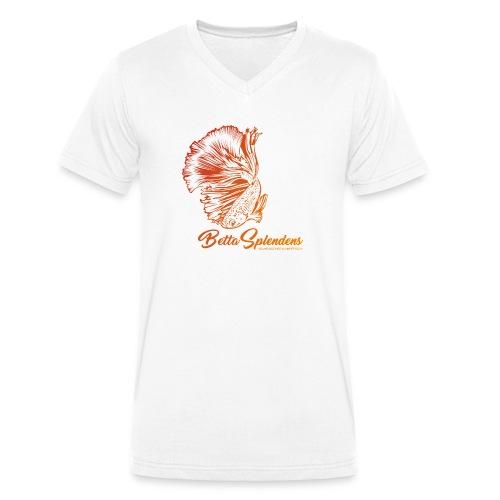 Betta Splendens - Siamesicher Kampffisch - Männer Bio-T-Shirt mit V-Ausschnitt von Stanley & Stella