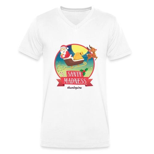 Santa Madness winner - T-shirt ecologica da uomo con scollo a V di Stanley & Stella
