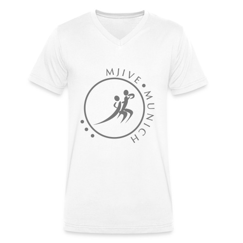 MJive dancers gray solid - Männer Bio-T-Shirt mit V-Ausschnitt von Stanley & Stella