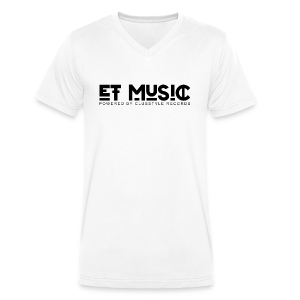 E.T. Music Logo (Powered by ClubStyle Records) - Mannen bio T-shirt met V-hals van Stanley & Stella