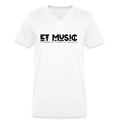 E.T. Music Logo (Powered by ClubStyle Records) - Mannen bio T-shirt met V-hals van Stanley & Stella