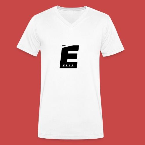 Elia Logo - Schwarz - Männer Bio-T-Shirt mit V-Ausschnitt von Stanley & Stella