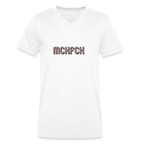 MCKFCK Logo - Männer Bio-T-Shirt mit V-Ausschnitt von Stanley & Stella