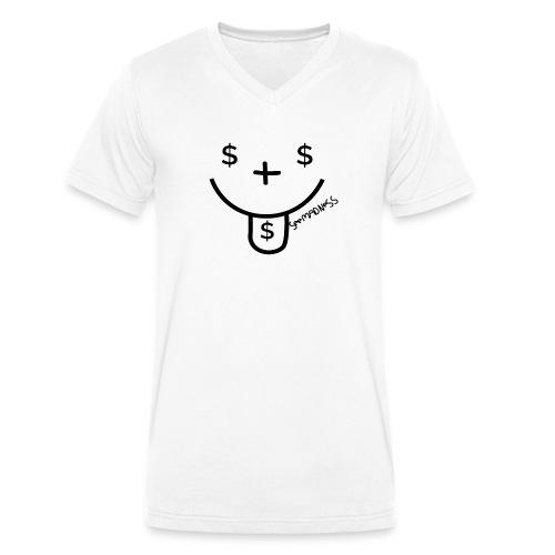 SeeMadness Money - Mannen bio T-shirt met V-hals van Stanley & Stella