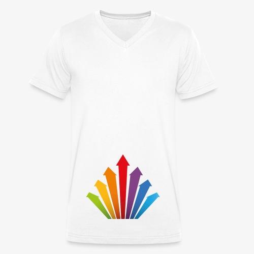 Rainbow Power - Männer Bio-T-Shirt mit V-Ausschnitt von Stanley & Stella