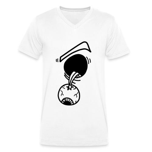 Ojo colgante - Camiseta ecológica hombre con cuello de pico de Stanley & Stella