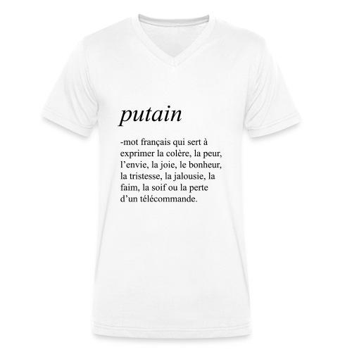 Putain - T-shirt bio col V Stanley & Stella Homme