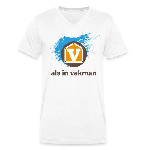 V als in Vakman - Mannen bio T-shirt met V-hals van Stanley & Stella