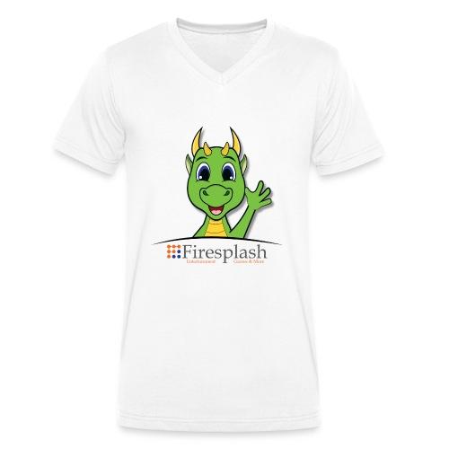 Kurisou mit Logo - Männer Bio-T-Shirt mit V-Ausschnitt von Stanley & Stella