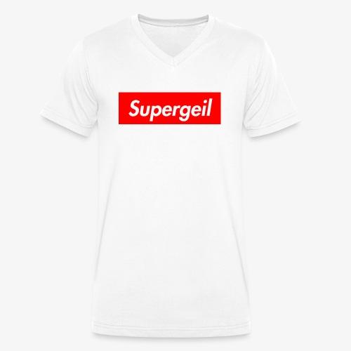 Supergeil - Männer Bio-T-Shirt mit V-Ausschnitt von Stanley & Stella