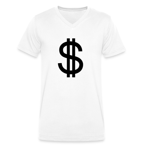 Dollar - Camiseta ecológica hombre con cuello de pico de Stanley & Stella