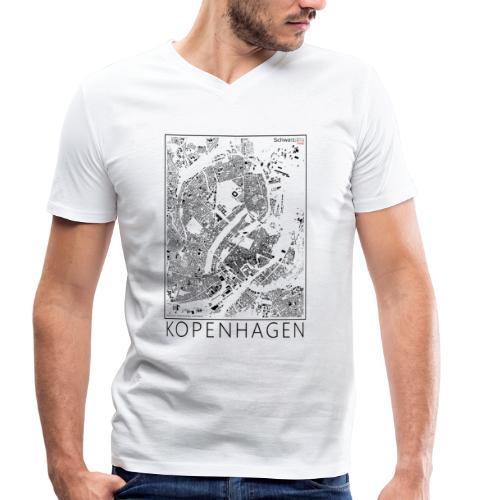 Schwarzplan Kopenhagen Figureground Diagram - Männer Bio-T-Shirt mit V-Ausschnitt von Stanley & Stella