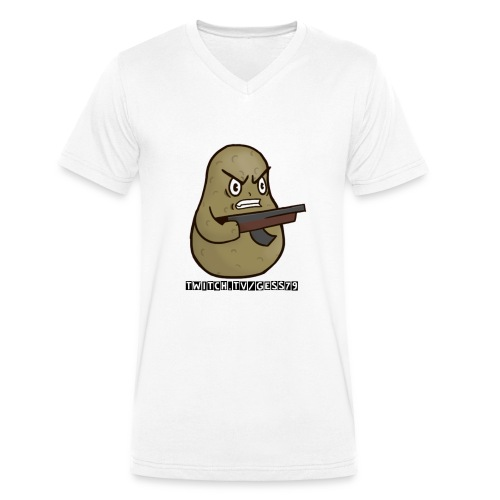 Potato Twitch Black Font - Männer Bio-T-Shirt mit V-Ausschnitt von Stanley & Stella