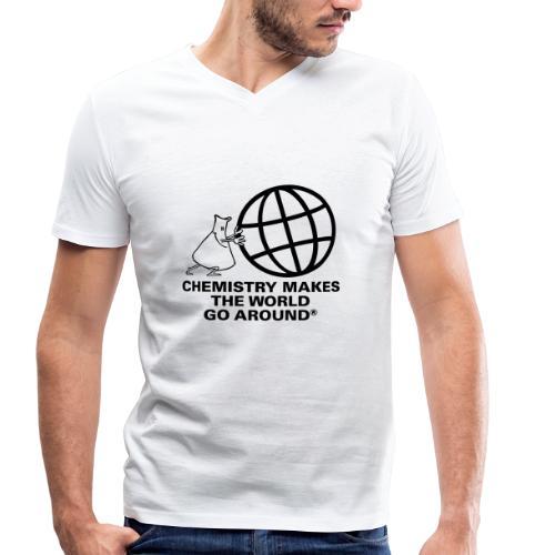 Erlenmeyer dreht die Welt - T-Shirt - Männer Bio-T-Shirt mit V-Ausschnitt von Stanley & Stella