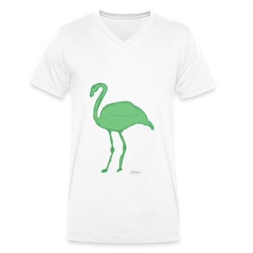 flamenco - Camiseta ecológica hombre con cuello de pico de Stanley & Stella