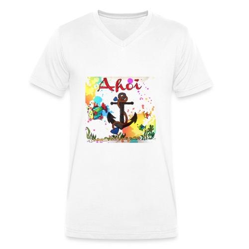 Ahoi mit Anker Design - Männer Bio-T-Shirt mit V-Ausschnitt von Stanley & Stella
