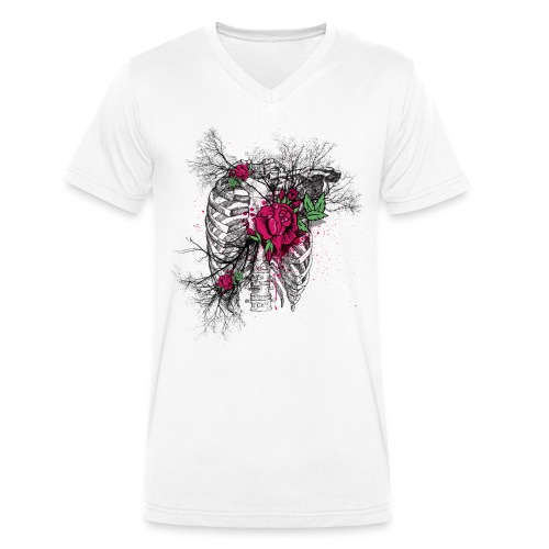 Dead Roses - Men's Organic V-Neck T-Shirt by Stanley & Stella