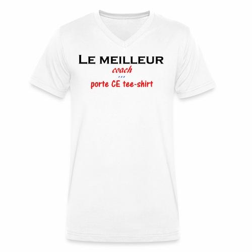 le meilleur coach porte ce tee shirt - T-shirt bio col V Stanley & Stella Homme