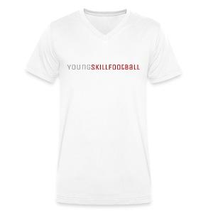 YoungSkillFootball - Männer Bio-T-Shirt mit V-Ausschnitt von Stanley & Stella