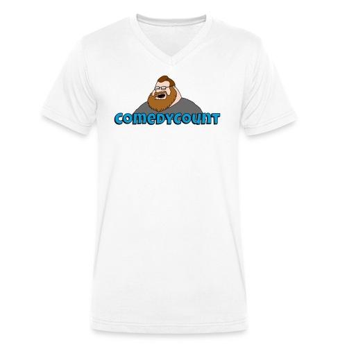 COMEDY LOGO - Økologisk Stanley & Stella T-shirt med V-udskæring til herrer
